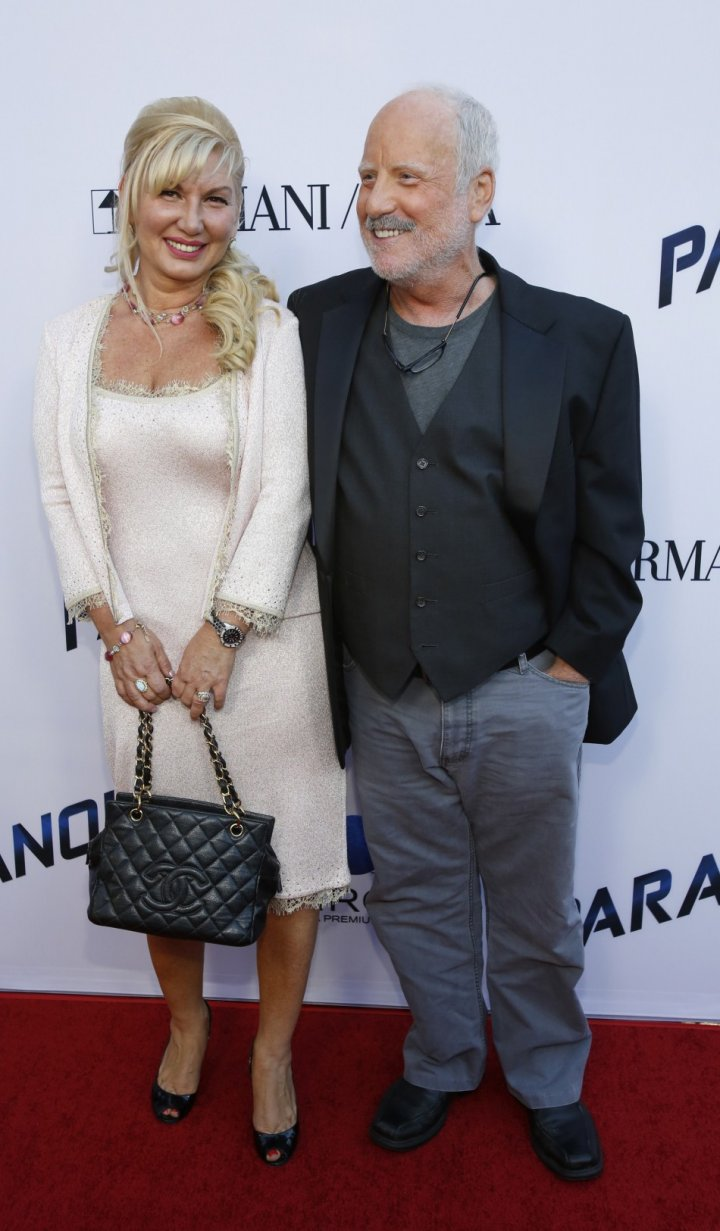 Cast member Richard Dreyfuss and his wife Svetlana Erokhin pose at the premiere of