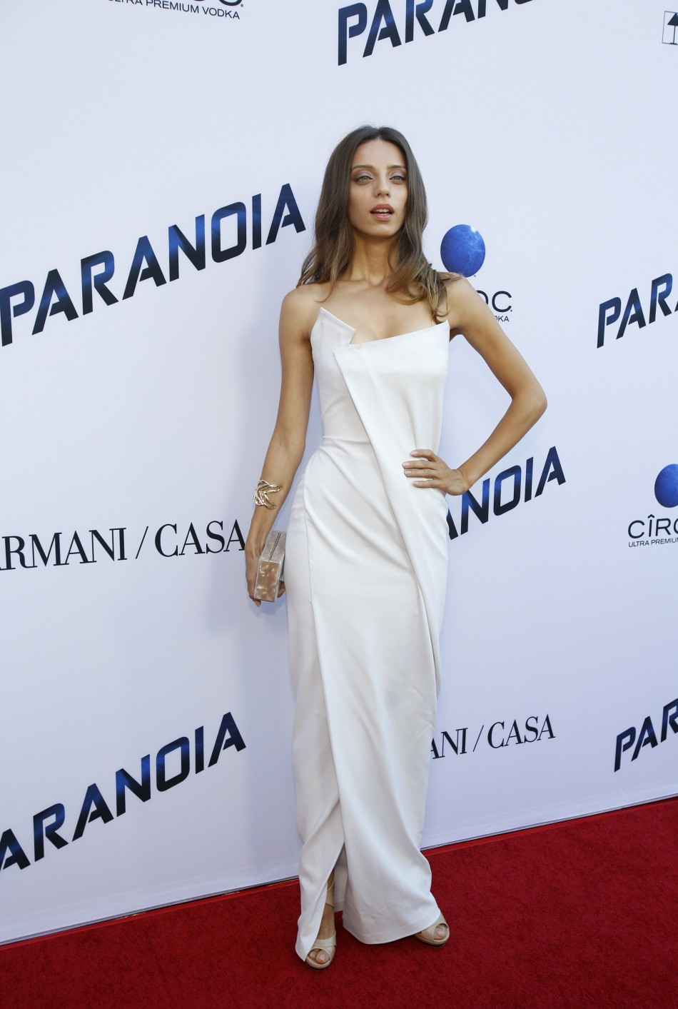 Cast member Angela Sarafyan poses at the premiere of