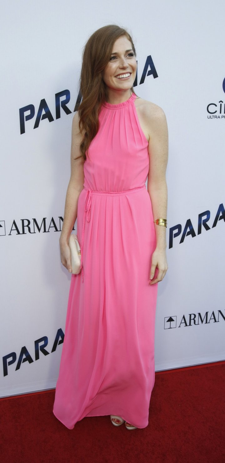 Haley Finnegan poses at the premiere of