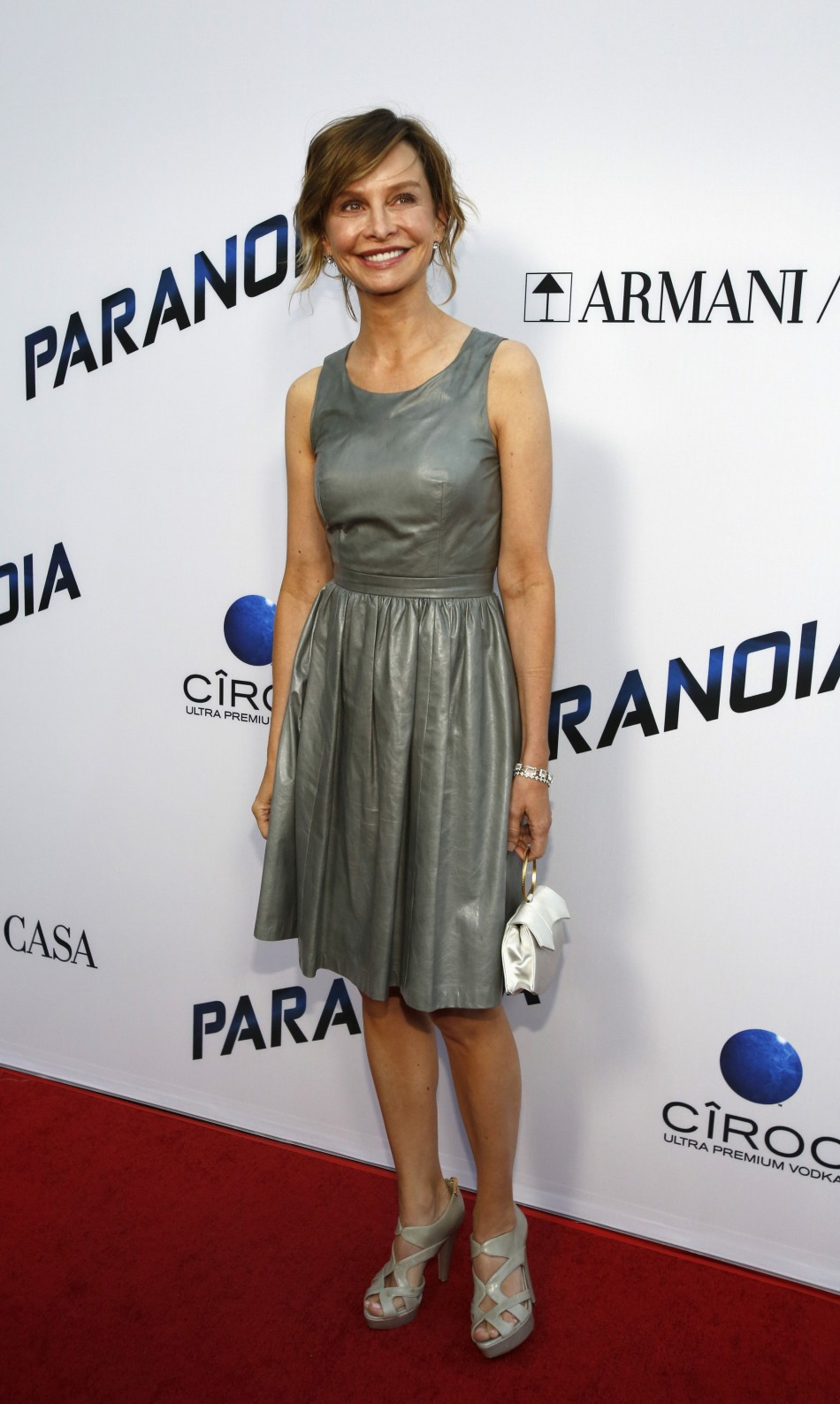 Calista Flockhart poses at the premiere of