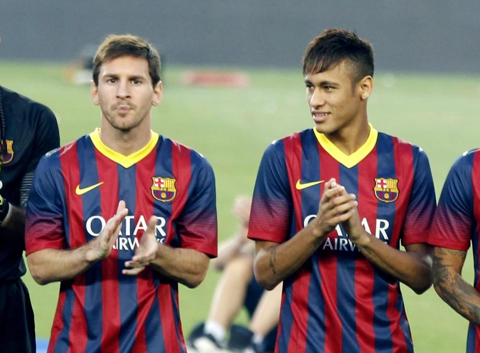 Messi and Neymar