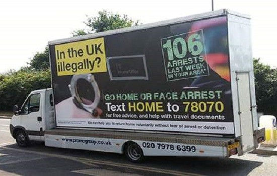 Home Office 'Immigrant Go Home' vans