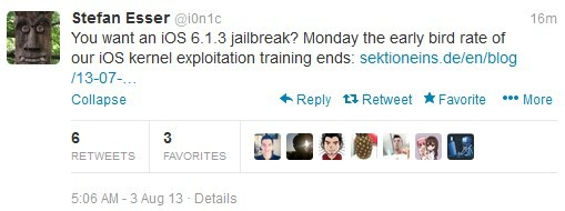 iOS 6.1.3 Untethered Jailbreak: i0n1c Invites Jailbreakers for iOS Kernel Exploitation Course in Germany
