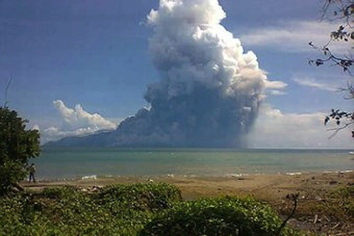Six people were killed, swept away by lava after Mount Rokatendo in Indonesia erupted. www.abc.net.au