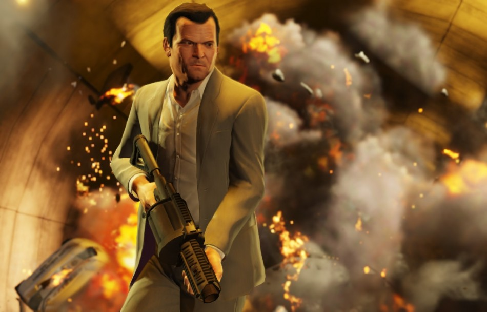 GTA 5 Character Michael in Action (Credit: Rockstargames.com)