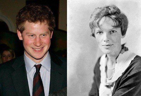 Prince Harry and Amelia Earhart