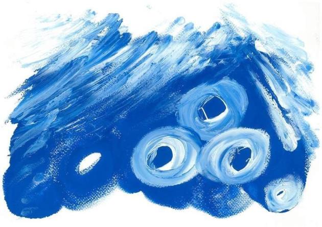 Blue piece by Lee Hadwin