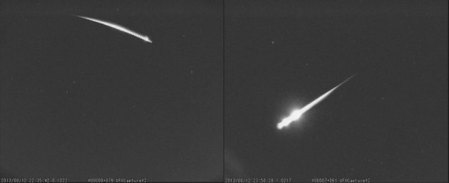 UK Meteor Network posted the pictures of a shooting star on 13 August on Twitter, saying,