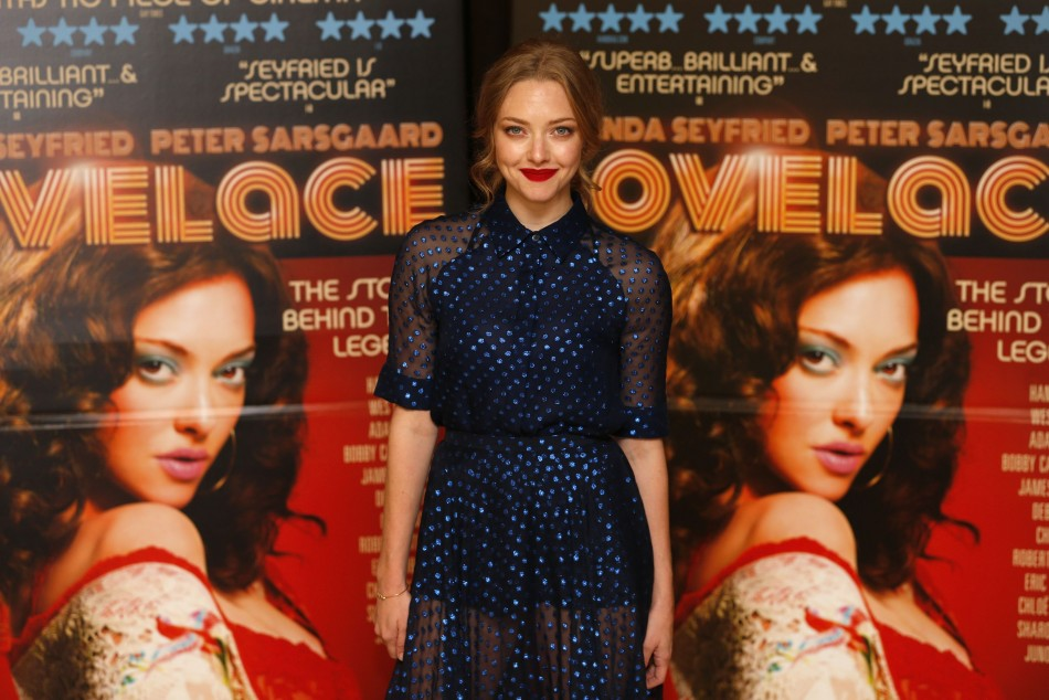 Amanda Seyfried plays the protagonist Linda Lovelace in the film. (Photo: REUTERS/Andrew Winning)
