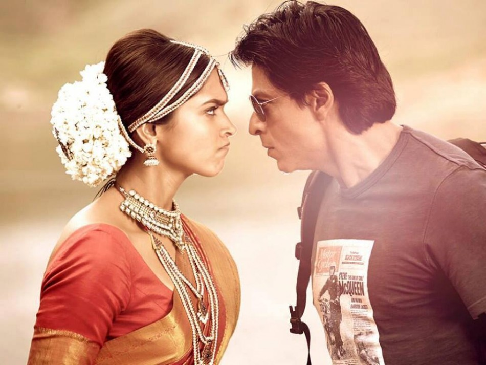Shah Rukh Khan and Deepika Padukone in a scene from Chennai Express. (Photo: ChennaiExp2013/Facebook)