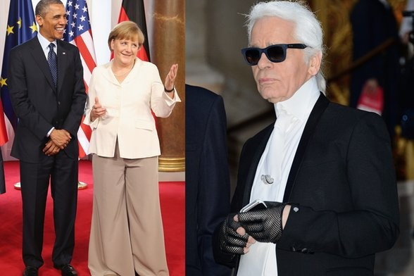Angela Merkel and Karl Lagerfeld