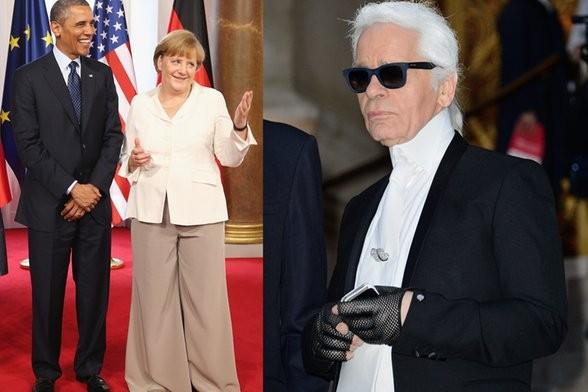 Angela Merkel and Karl Lagerfeld