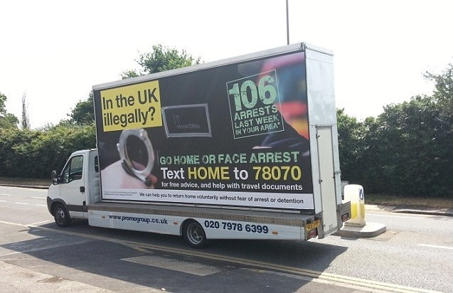 Public approval for racist van on the rise, YouGov poll finds