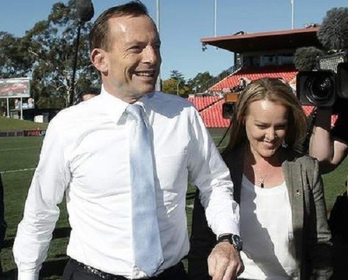 Tony Abbott and Fiona Scott, who oozes