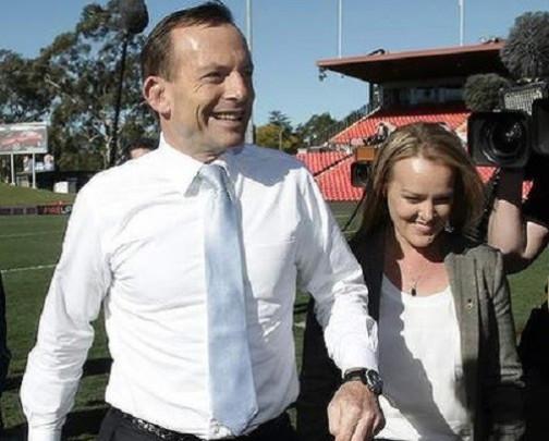Tony Abbott and Fiona Scott, who oozes