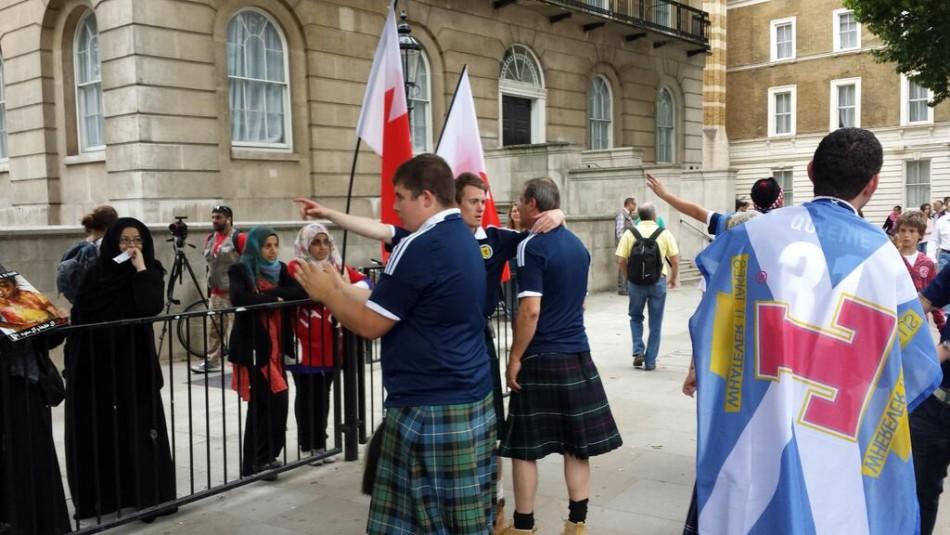 Scottish fans join Bahrain protest