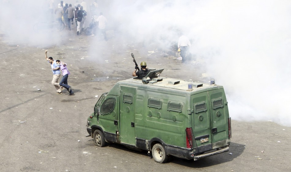 Egyptian security forces move in