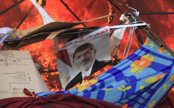 A poster of Mursi reads