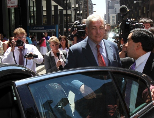 Conrad Black leaves a bail hearing in Chicago July 23, 2010. (Photo: Reuters)
