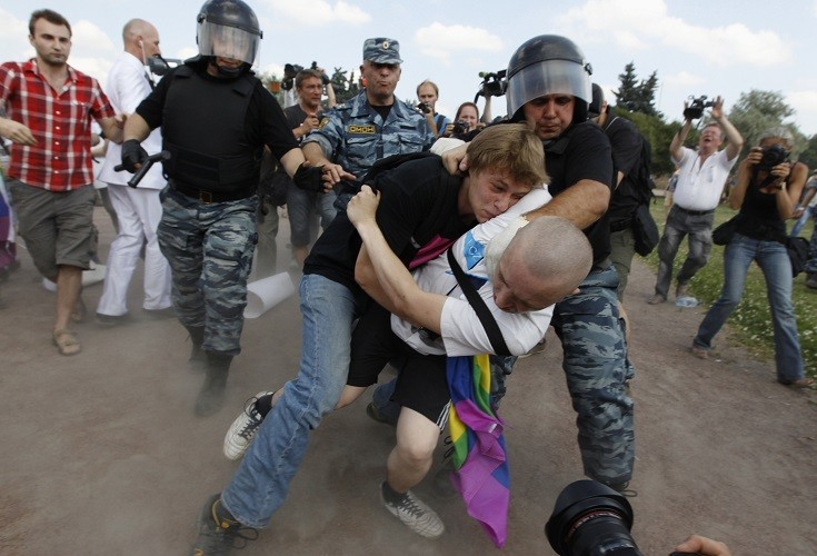 Russia gay protest