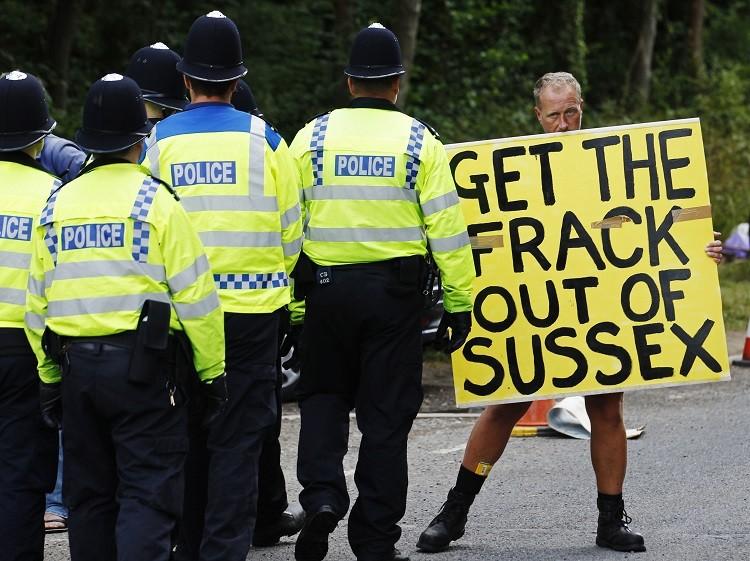 Balcombe fracking protest camp
