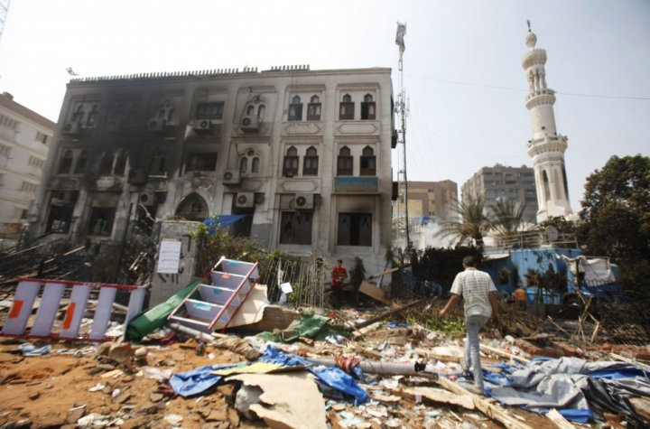 Rabaa Adawiya was one of the most famous mosques in Cairo, located in Nasr City district that has become the centre of pro-Morsi protests. (Photo: Reuters)