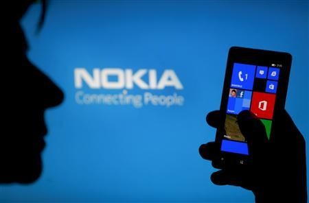 Nokia Lumia Model (Credit: Reuters)