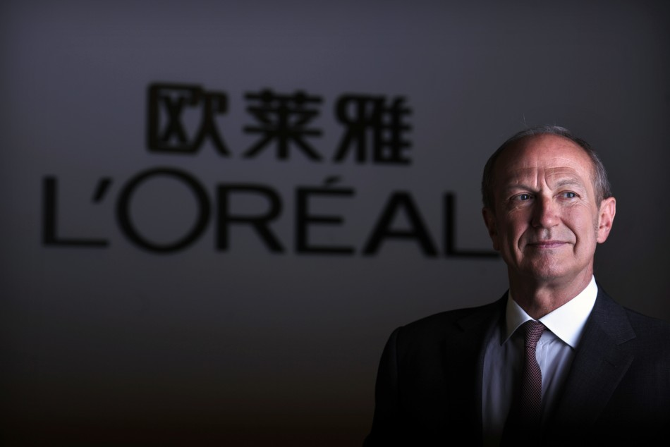 L'Oreal chairman and CEO Jean-Paul Agon
