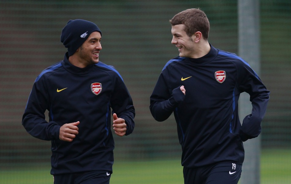 Theo Walcott and Jack Wilshere