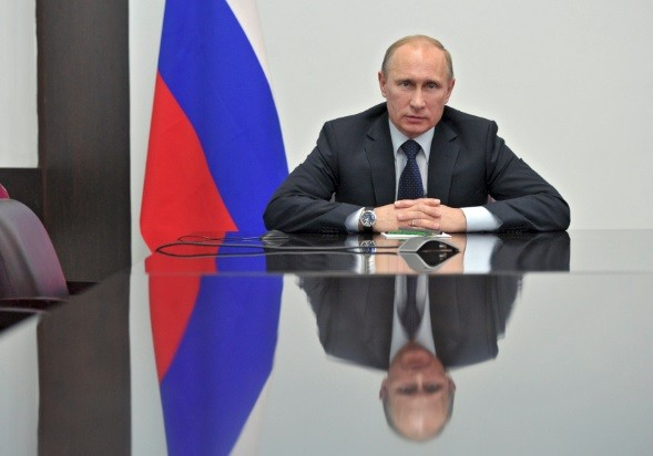 Russian president Vladimir Putin is pictured speaking to Rosneft via video link. Britain depends on Russia and Qatar for oil and gas needs (Photo: Reuters).
