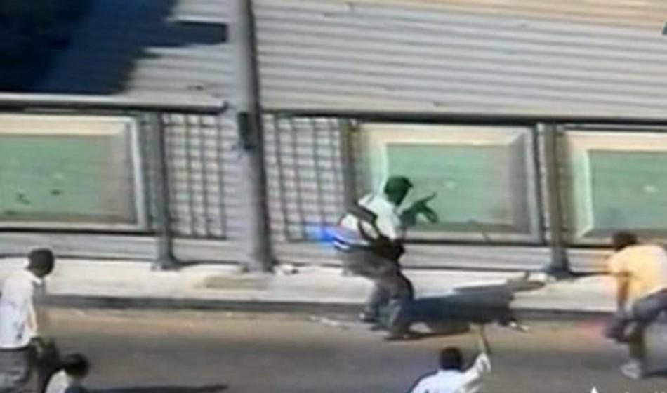Ramses Square Cairo man gun