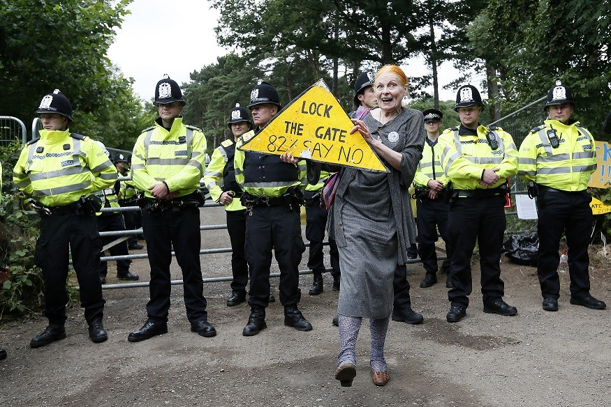Vivienne Westwood joins anti-fracking campaigners in Balcombe