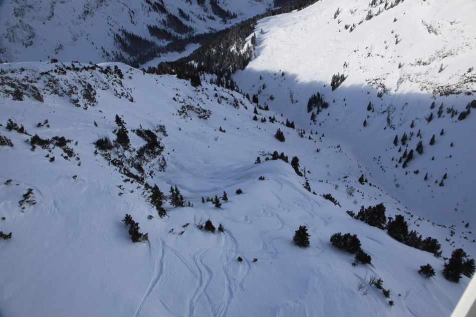 An aerial view of the site of 2012 avalanche in Lech which led Prince Friso to coma for 18 months till his death on 12 August, 2013. (Photo: Reuters)
