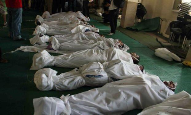 Cairo's al-Fateh mosque became a makeshift morgue
