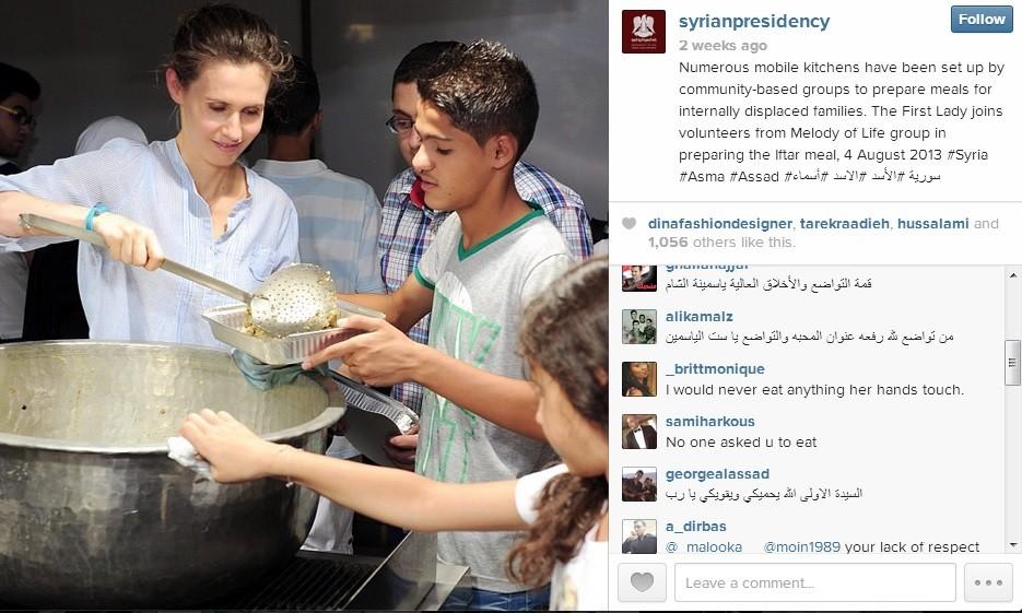 Instagram account for Syrian presidency
