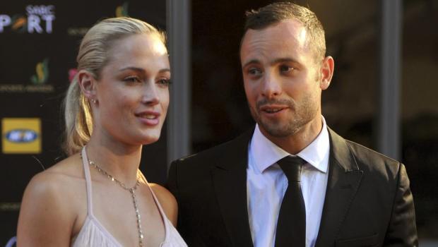 Oscar Pistorius with Reeva Steenkamp