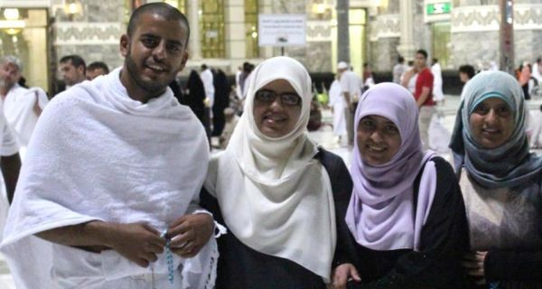 Ibrihim Halawa with his sisters Fatima, Omaima and Somaia, who are being held in a Cairo jail. (Family photo).