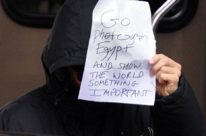 Star Trek star Benedict Cumberbatch shows his concern for the Egypt crisis