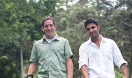 David Miranda [r] with Glenn Greenwald