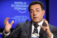 Samir Brikho, CEO of Amec attends a session at the World Economic Forum (WEF) in Davos.