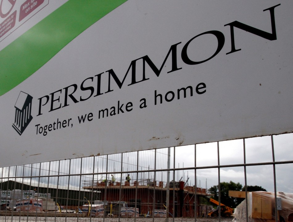 A Persimmon housing development is pictured in Hilton, central England
