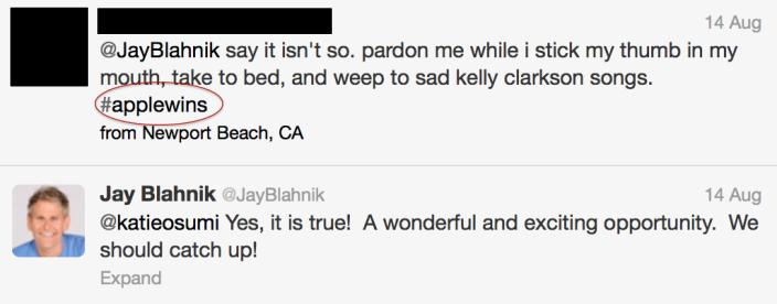 Jay Blahnik tweets