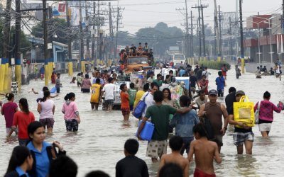 Philippine monsoon rain