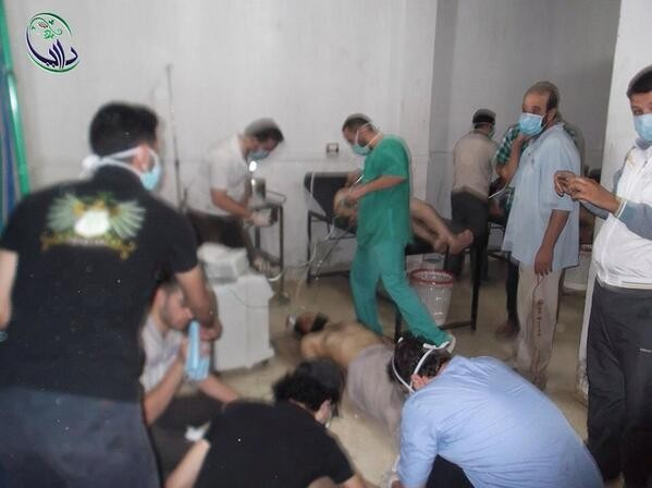 Field hospital in Daraya doesn't even have enough room to treat the injured