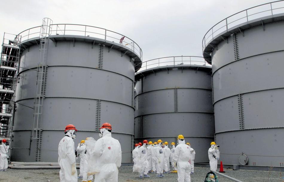 Tanks of radiation-contaminated water are seen at the  tsunami-crippled Fukushima Daiichi nuclear power plant (Reuters)
