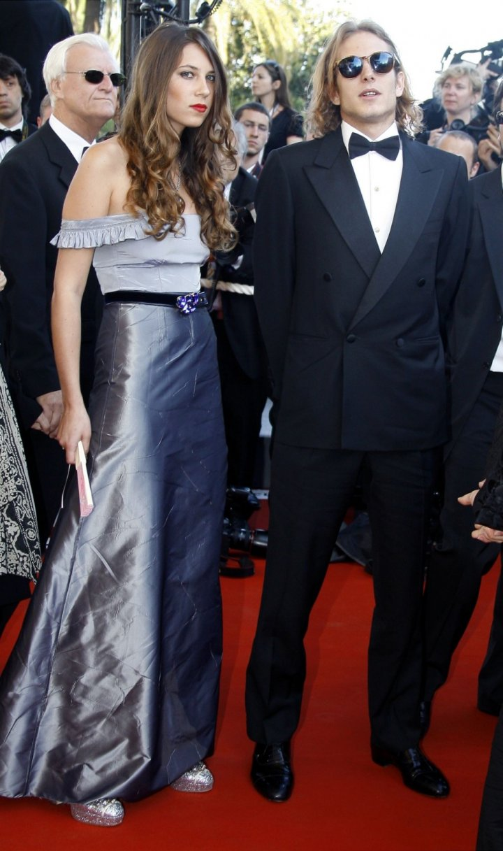 Andrea Casiraghi and Tatiana arrive for a screening of U.S. director Sofia Coppola's in-competition film 'Marie Antoinette' at the 59th Cannes Film Festival May 24, 2006.( REUTERS/Eric Gaillard)