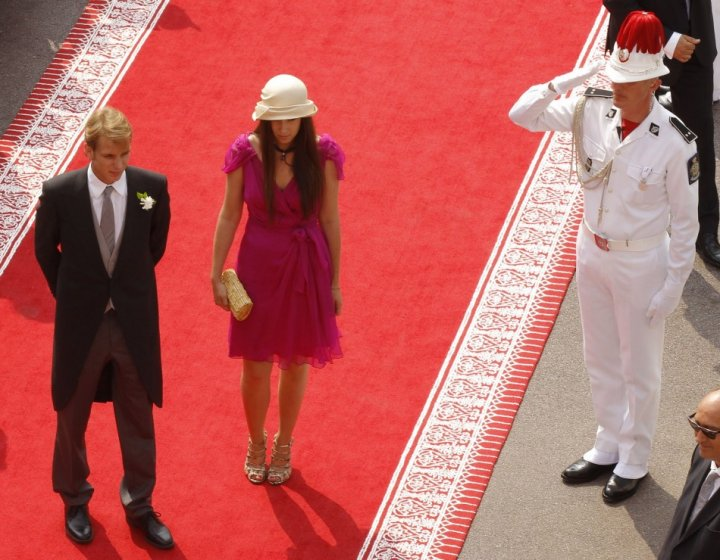 Andrea Casiraghi and Tatiana welcomed their first child in March 2013. (REUTERS/Eric Gaillard)