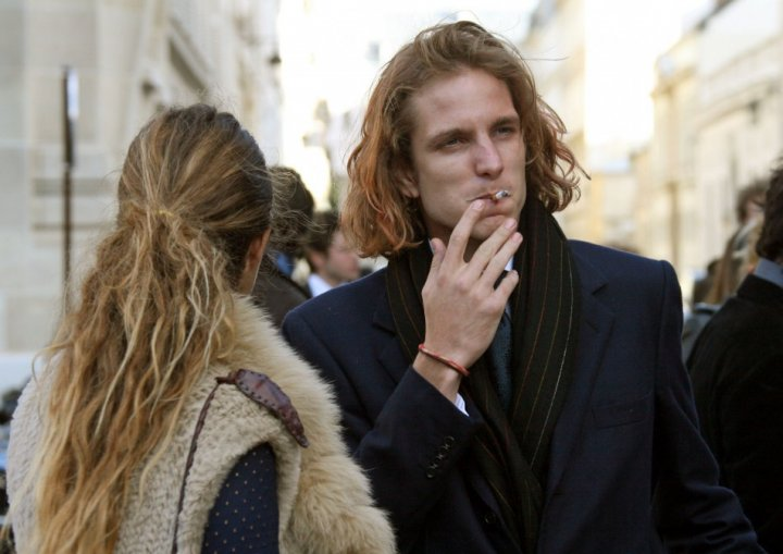 Andrea Casiraghi is the eldest grandchild of Princess Grace and nephew of Monaco's ruling sovereign prince Albert II. (REUTERS)
