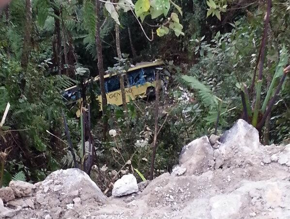 Malaysia bus Ravine crash