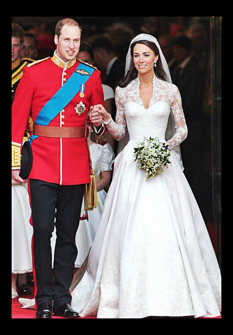 Kate Middleton in Alexander McQueen dress on her wedding